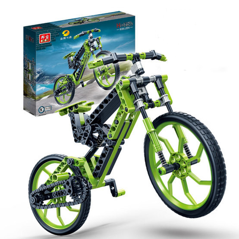 Banbao 6959 Bicycle Car Model Plastic Building Block Sets Educational DIY Bricks Toys