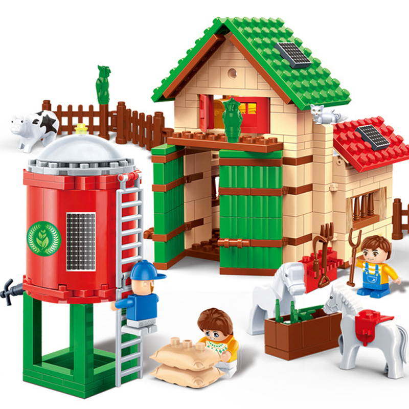 Banbao 8580 Happy Ranchette Building Blocks Sets Building Bricks Toys For Baby Toys Educational