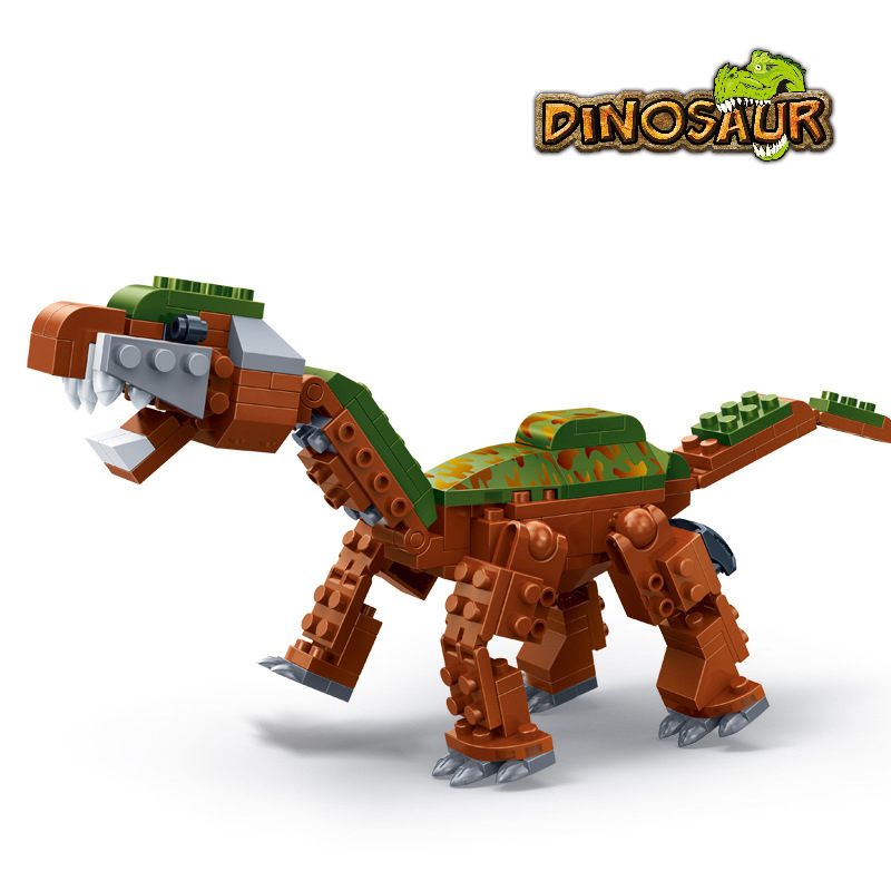 Banbao 6858 Educational Toy The Cretaceous Period Jurassic Dinosaur Brontosaurus Building Block Sets Brick Model