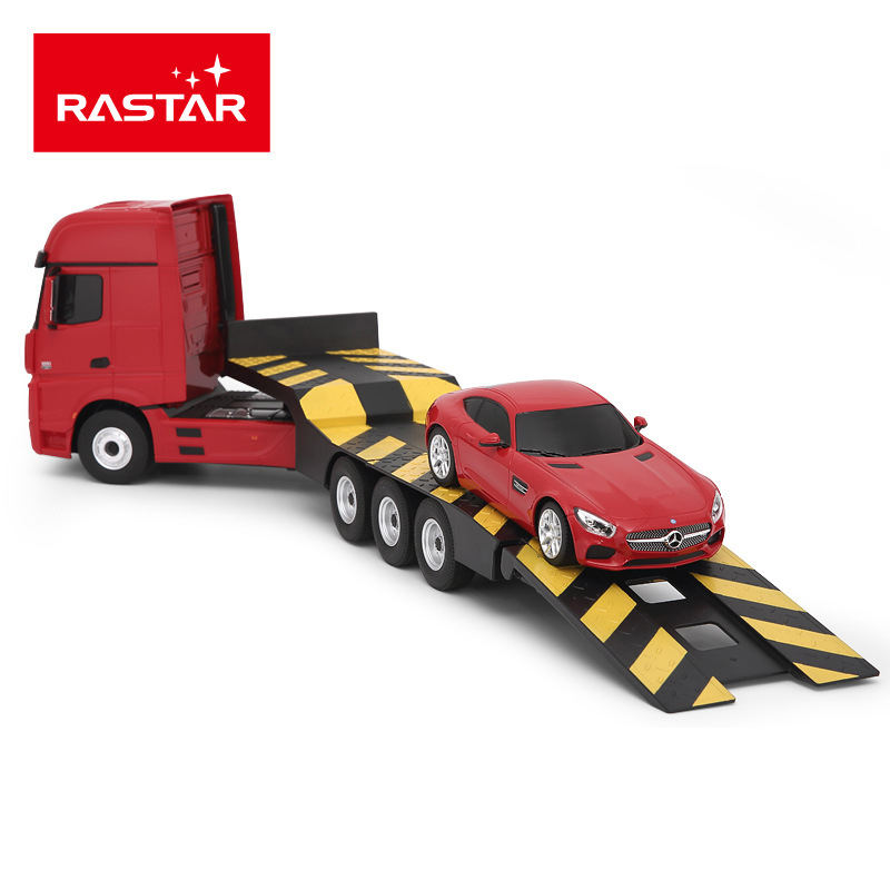 Rastar R/C 74940 1:26/1:24 Mercedes-Benz Trailer And Remote Control Car Mini CElectric Radio Controlled Remote Car Toys