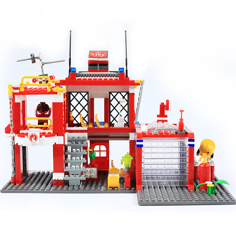 Banbao 8311 Learning & Education Fire Series City Fire Department Building Block Set Boys Bricks Toy