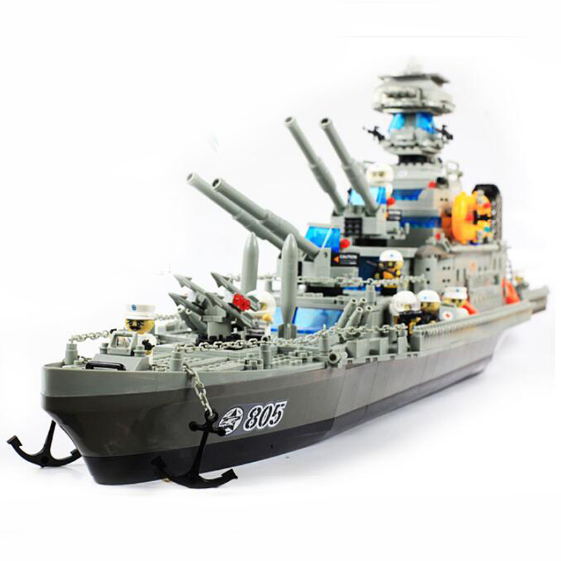 Banbao 8241 Military Series Cruiser Plastic Building Block Sets Educational DIY Bricks Toys