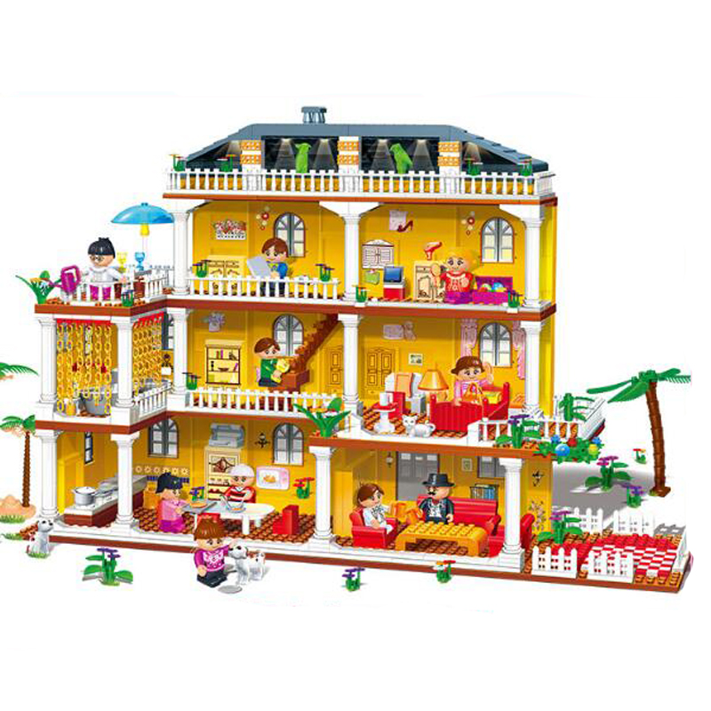 Banbao 8370 Villa Series My Beloved Home Blocks Toys for Girls Plastic Building Block Sets Educational And Learning DIY Bricks T