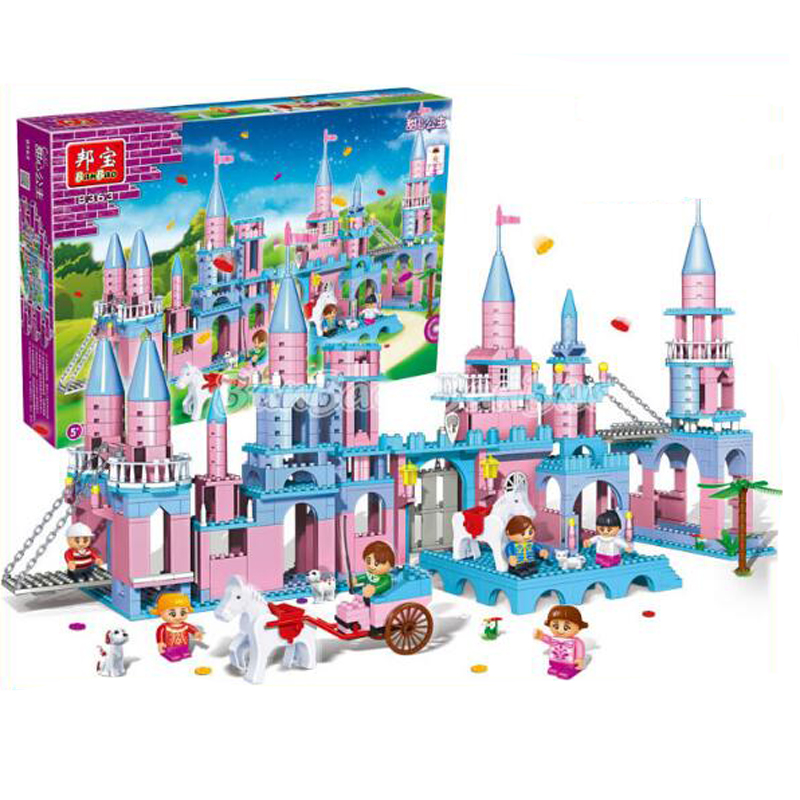 Banbao 8363 Princess Series Moon Castle Blocks Toys for Girls Plastic Building Block Sets Educational And Learning DIY Bricks To