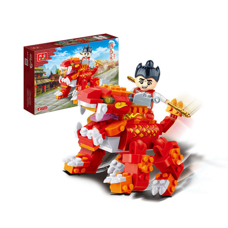 Banbao 6610-6611 Chinese Kungfu Kylin Red Building Block Sets Learning And Educational DIY Bricks Toys
