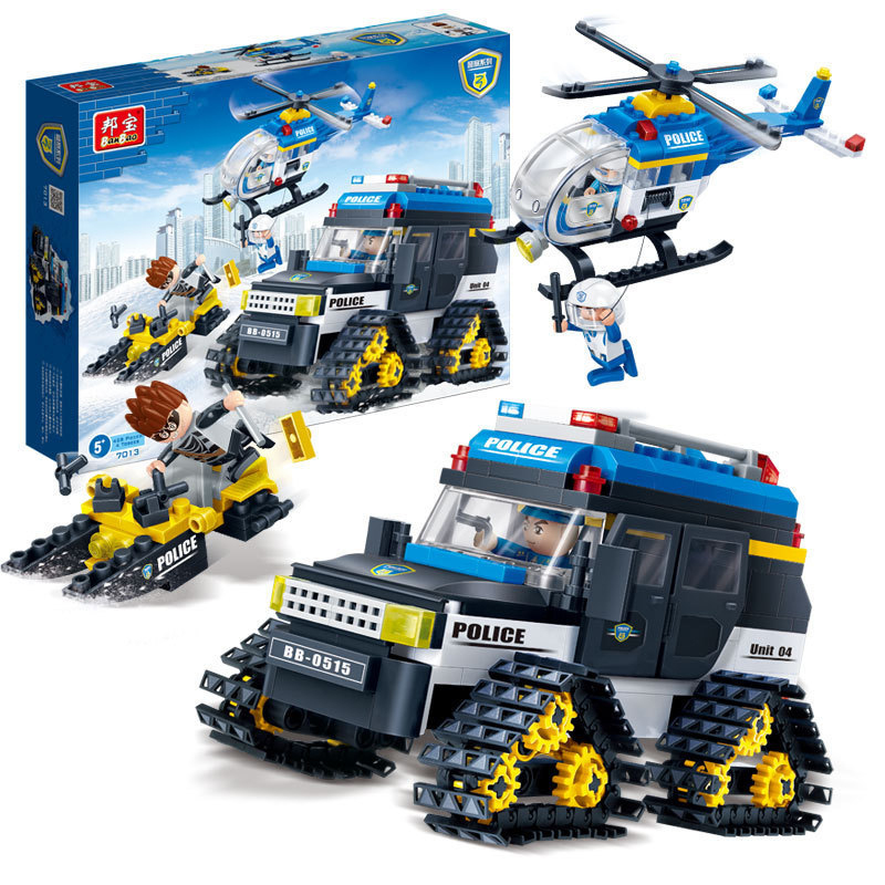Banbao 7013 Polar Task Building Block Sets Learning And Educational DIY Bricks Toys