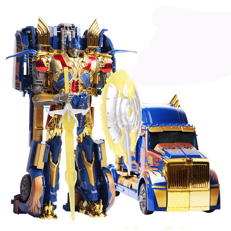 Transformation 4 W8007 Gold Version Optimus Prime Brinquedos Robots Action Figures Classic Toys