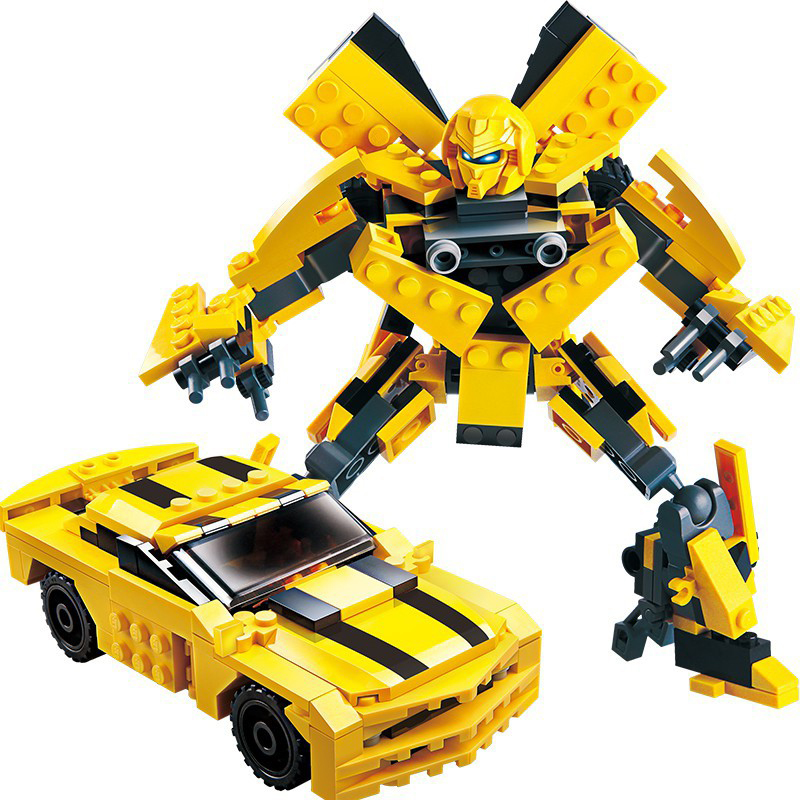 GUDI 8711 Transform Series Bumblebee Building Blocks Building Model Toys Robot 2 In 1 Vehicle Sports Car