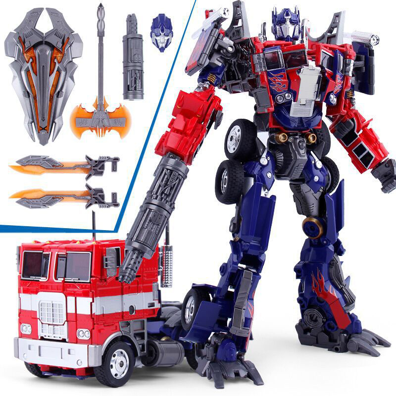 W8022 Alloy Vehicle Robot Transformation OP Action Figure Toy For Boys