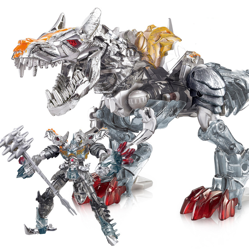 W8008B Deformation on Movie 4 Tyrannosaurus Rex Robot Dinosaur Model ABS&Alloy Action Figure Toy Boy Gift
