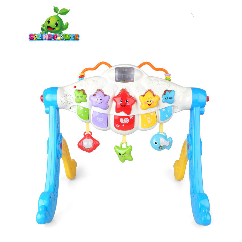 MZ Newborn Baby Multifunction Fitness Rack Infant Activity Play Mat Children Educational Toys