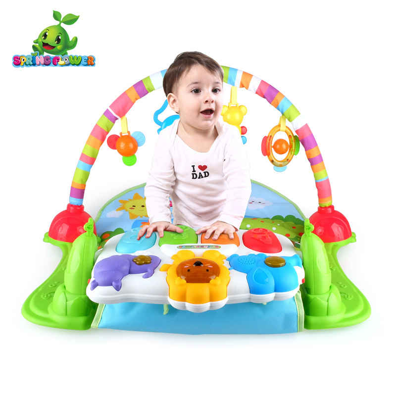 MZ Newborn Baby Multifunction Piano Fitness Rack With Music Rattle Play Mat Children Educational Toys