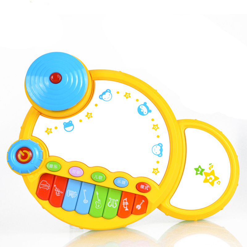 Electric Hand Drum Baby Toy Puzzle Drum Pat Baby Electronic Organ Toy