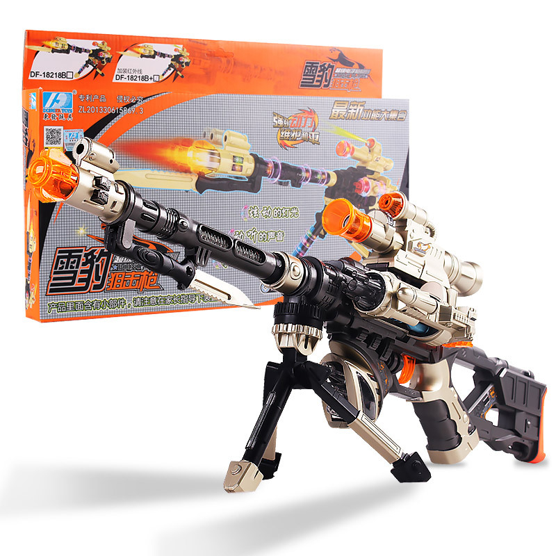 DF-18218B Laser Infrared Electric Toy Gun With Sound And Light And Projection Function