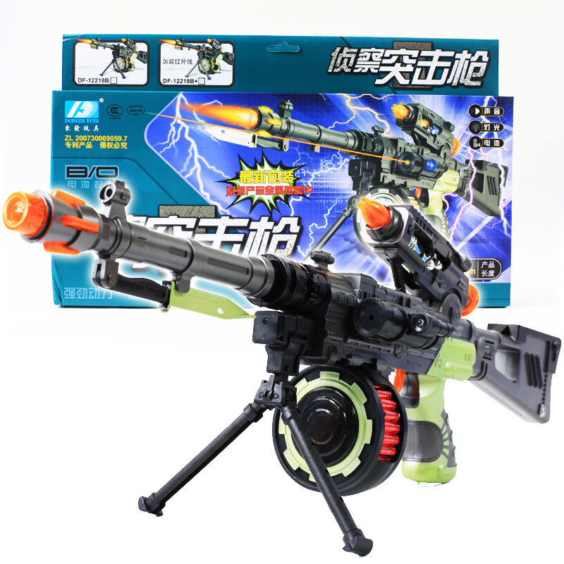 DF-12218B Laser Infrared Electric Toy Gun Reconnaissance Assault Rifle Series
