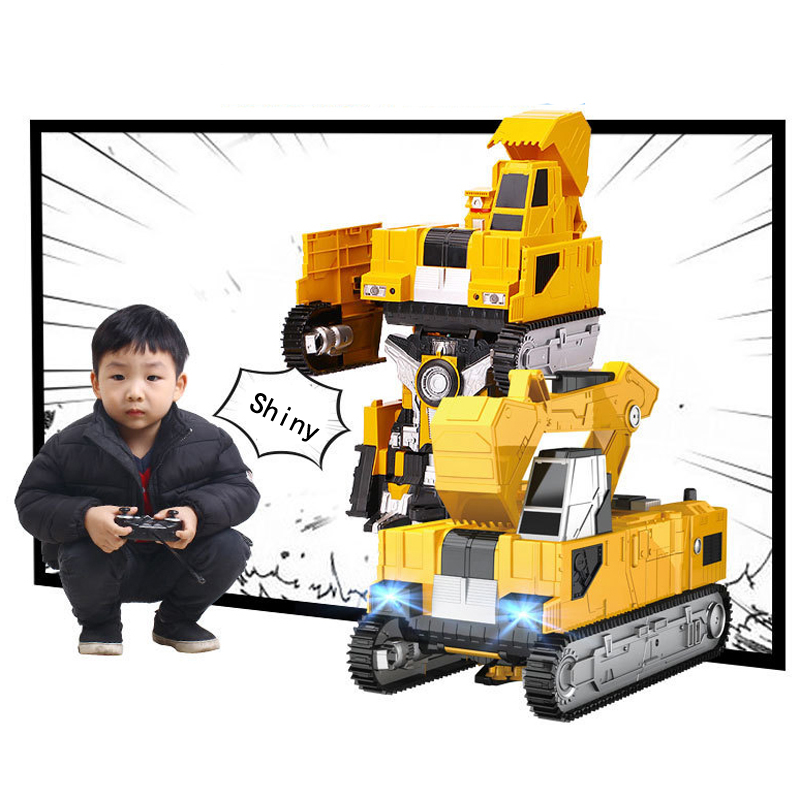 MZ 1:14 RC Excavator Deformation Robot 2.4G Big Smart Remote Control Robot