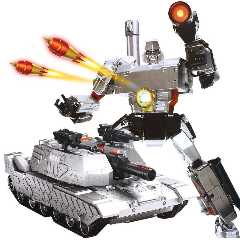 MZ 1:10 2327PF Launch Missile Tank RC Deformation Robot 2.4G Smart Remote Control