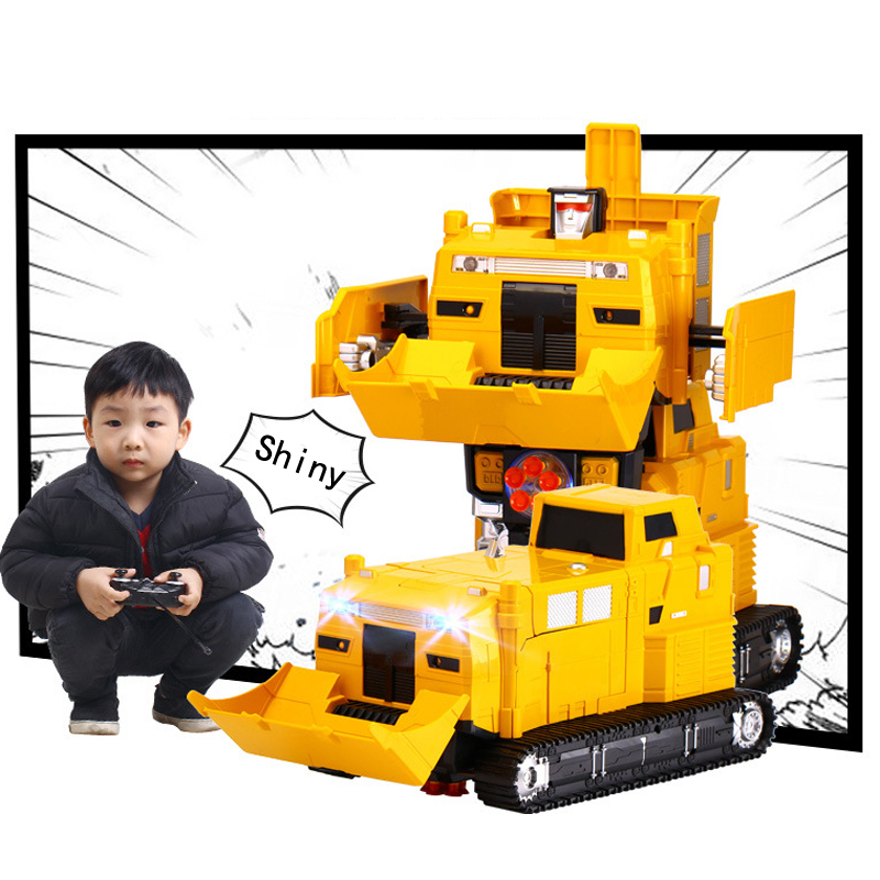 MZ 1:14 2377PF Launch Missile Bulldozer RC Deformation Robot 2.4G Smart Remote Control