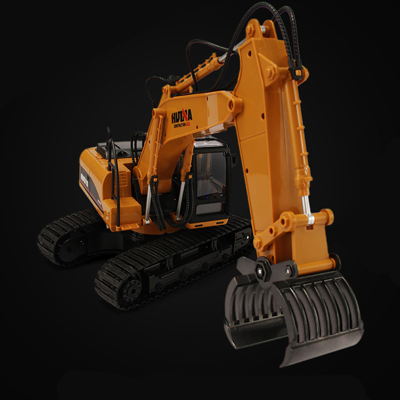HUINA 570 RC Engineer Truck 16 Channel 2.4G RC Alloy Timber Grab Excavator