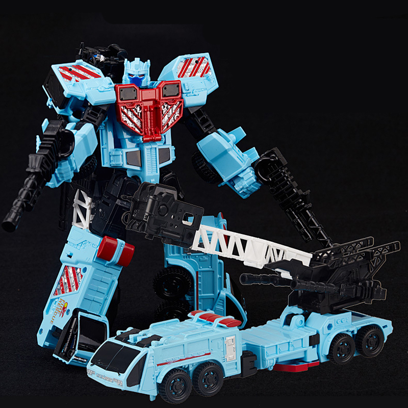 BIG HEAT Ladder Car 8032 Transformation Alloy Metal Deformation Action Figure Robot Toys
