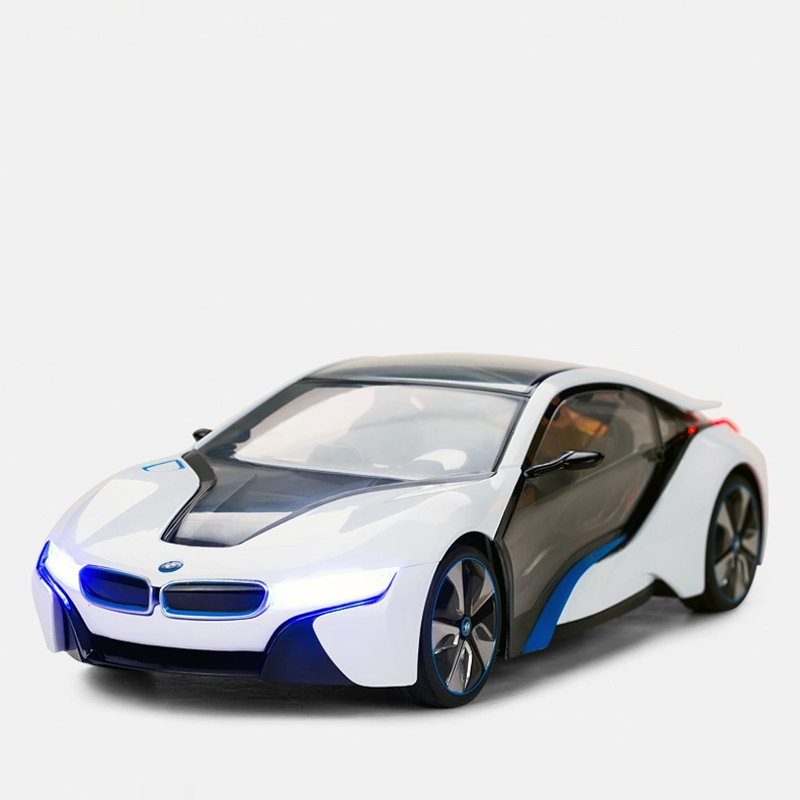 Rastar 1:14 BMW i8 ABS RC Car and Helicopter with 2.4G 4 Control Channels RC