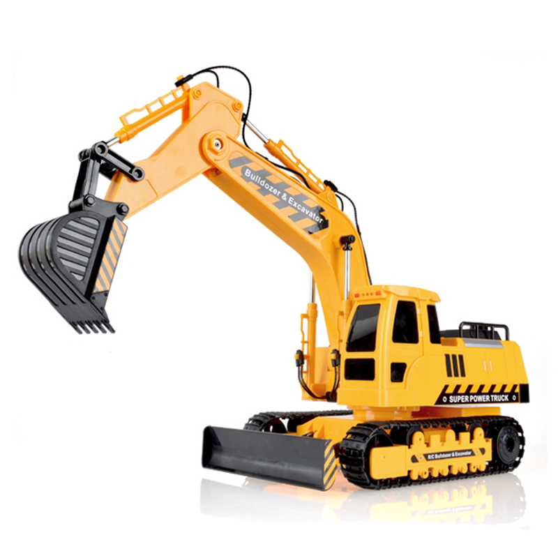 MZ 1:18 Remote Control Engineering Car Four - Wheel Drive Excavator Toy