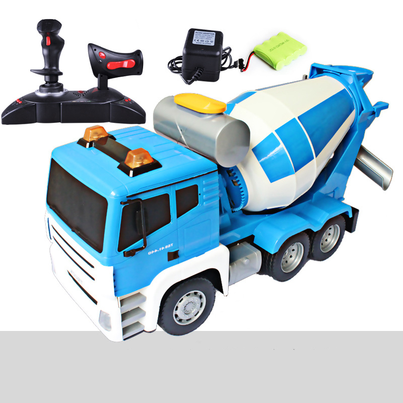 MZ 1:18 Remote Control Engineering Car Four - Wheel Drive Concrete Mixer Truck Toy