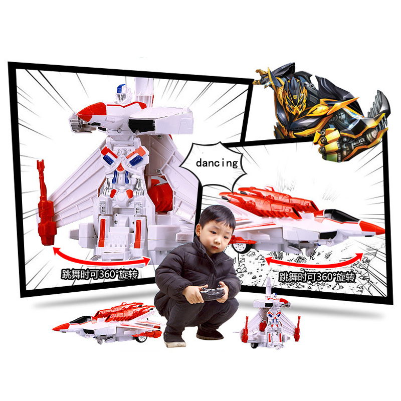 MZ 1:14 RC Transformation Aircraft Model Alloy Metal Deformation Action Figure Robot Toys