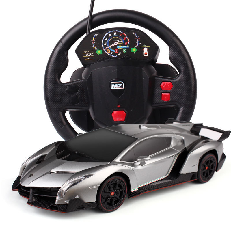 1:24 Lamborghini And Poison RC Car Charging Steering Wheel Remote Control Car