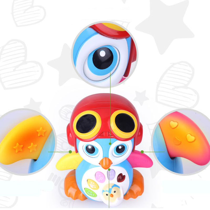 MZ 9003DS Swing Penguin Children Early Childhood Education Story Machine Toys