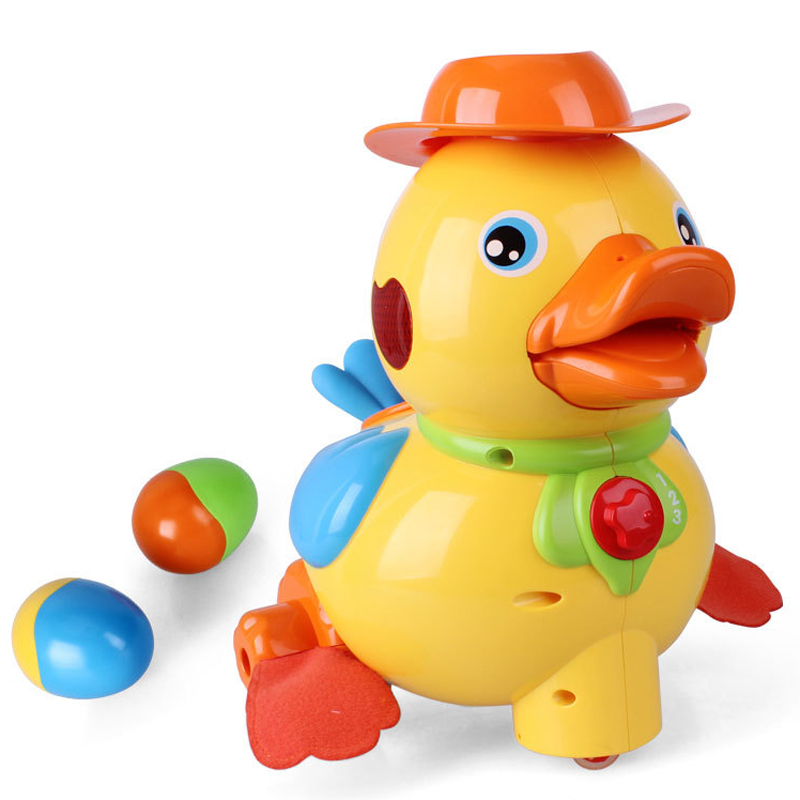 MZ 9001DS Small Yellow Duck With Light And Music Children Education Toys