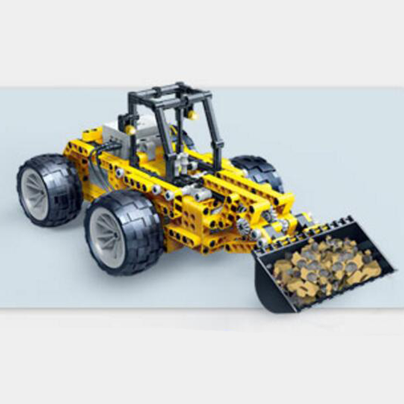 Banbao 6912 Bulldozer Infrared RC Engineering Vehicles Assembled Small Particles Building Blocks