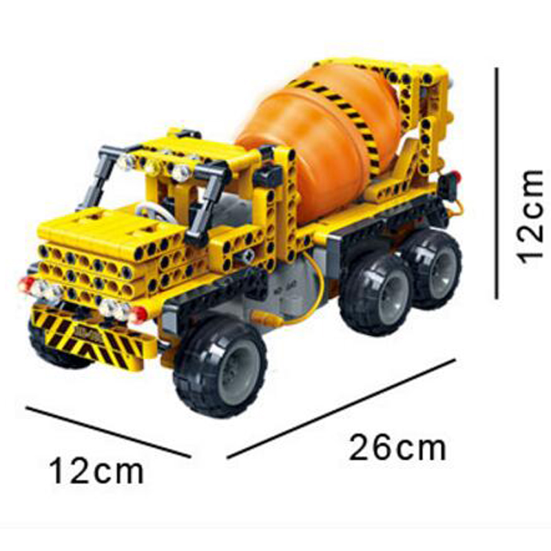 Banbao 6915 Concrete Mixer Truck Infrared RC Engineering Vehicles Assembled Small Particles Building Blocks