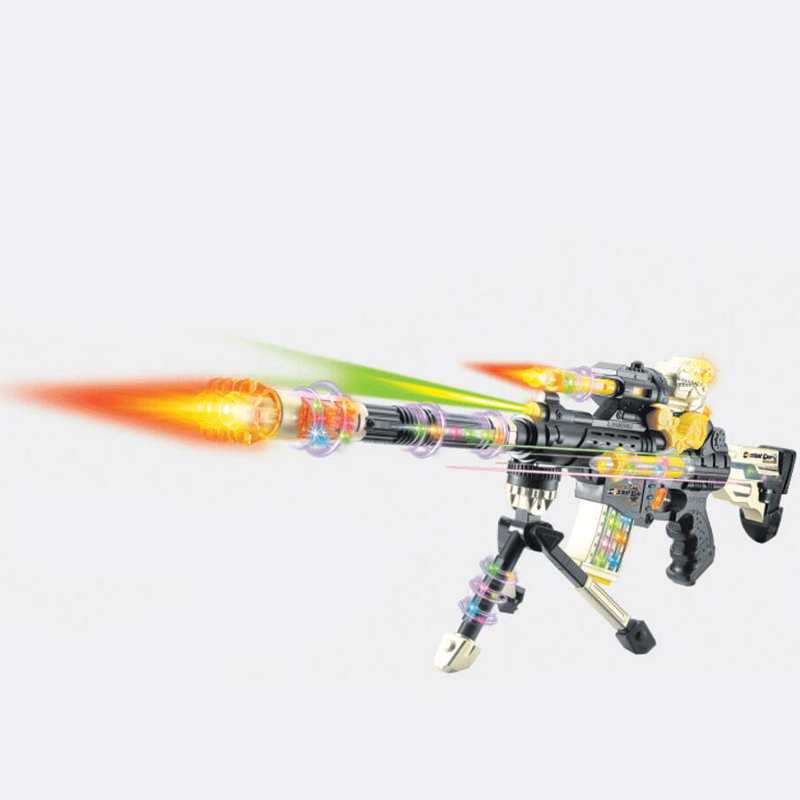 DF-19218B  Super Electron Gun Plastic Interactive Toy Guns Cool Lighting Infrared Submachine