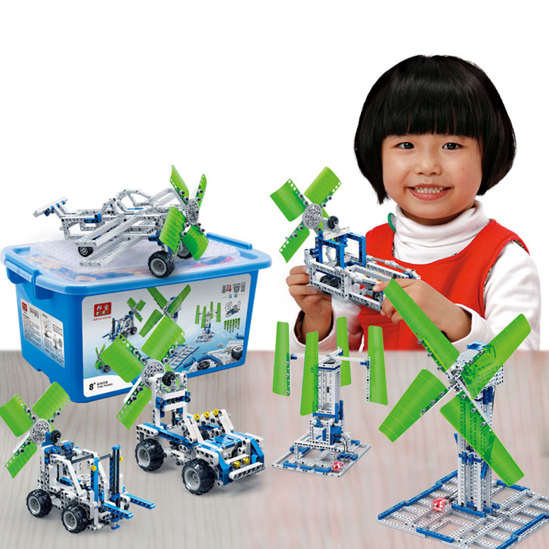 BanBao 6906 Children Toy Windmill Power Generation Building Blocks Set Educational DIY Bricks Toys