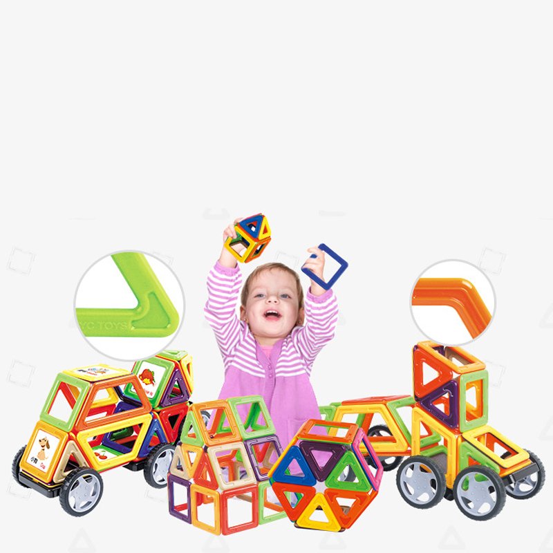 YC-16186 186pcs Standard Size Magnetic Building Blocks DIY Educational Toys