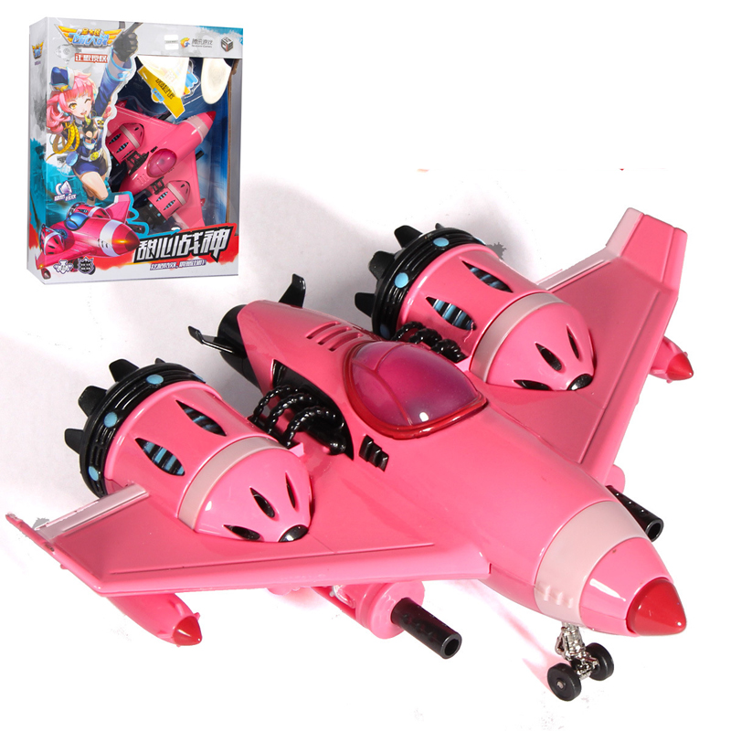 CAIPO-51602A Alloy Pink Aircraft Model With Light And Music