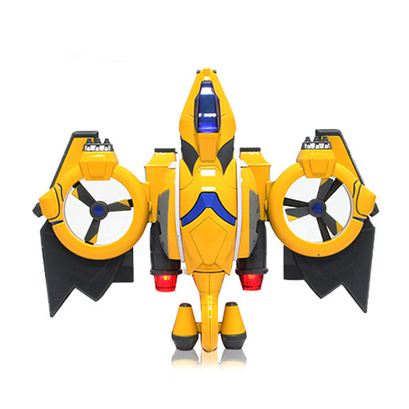 CAIPO-51604A Alloy Yellow Aircraft Model With Light And Music