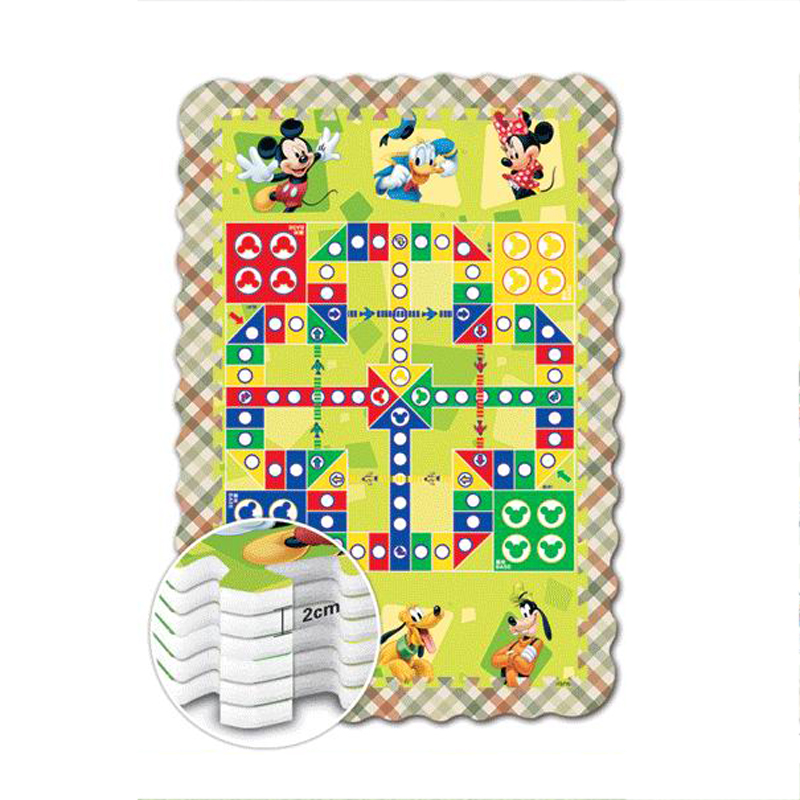 Disney Children Game And Puzzle Crawling Mat With Fence