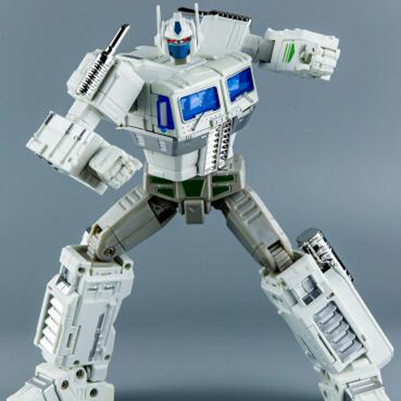 KBB-MP10V Transformers White Commander Optimus Prime Model With Car Flying Backpack