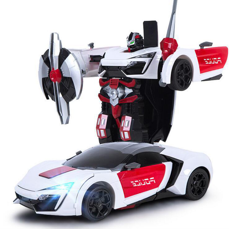 MZ Lecan 1:14 2.4Gh RC Car One Key Deformation Between Robot and Car