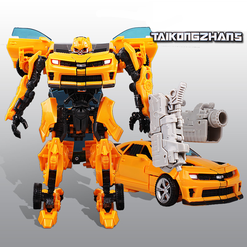 H-602 Bumblebee Alloy Vehicle Deformation Robot Static Model Action Figure Toy
