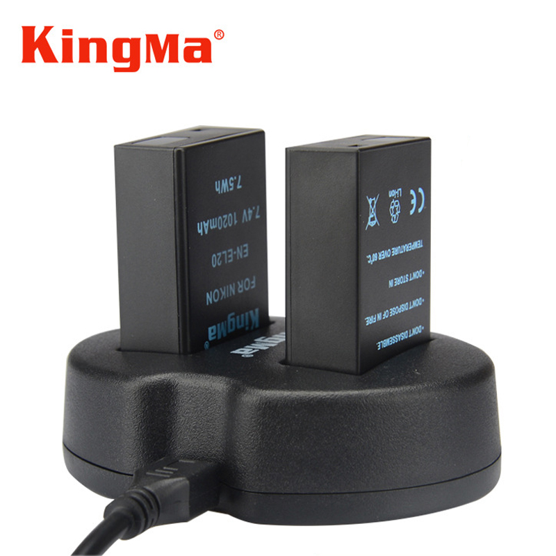 KingMa Dual Battery Charger Including Batteries And Chargers For J1 J2 J3 S1 COOLPIX A EN-EL20