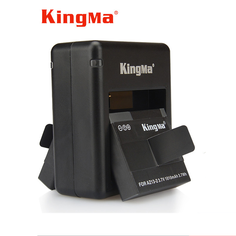 KingMa Dual Channel Battery Charger With Batterie For XiaoYi Action Camera American Version