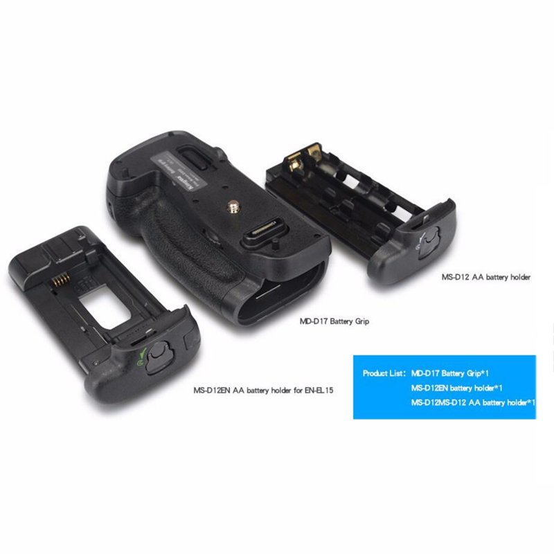 Professional Battery Grip For Nikon D500 Compatible with EN-EL15 OR AA Battery