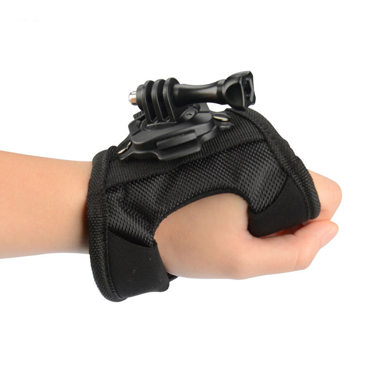 KingMa 360 Degree Rotation Glove Style Mount Wrist Strap Holder Strap Adapter For GoPro Hero