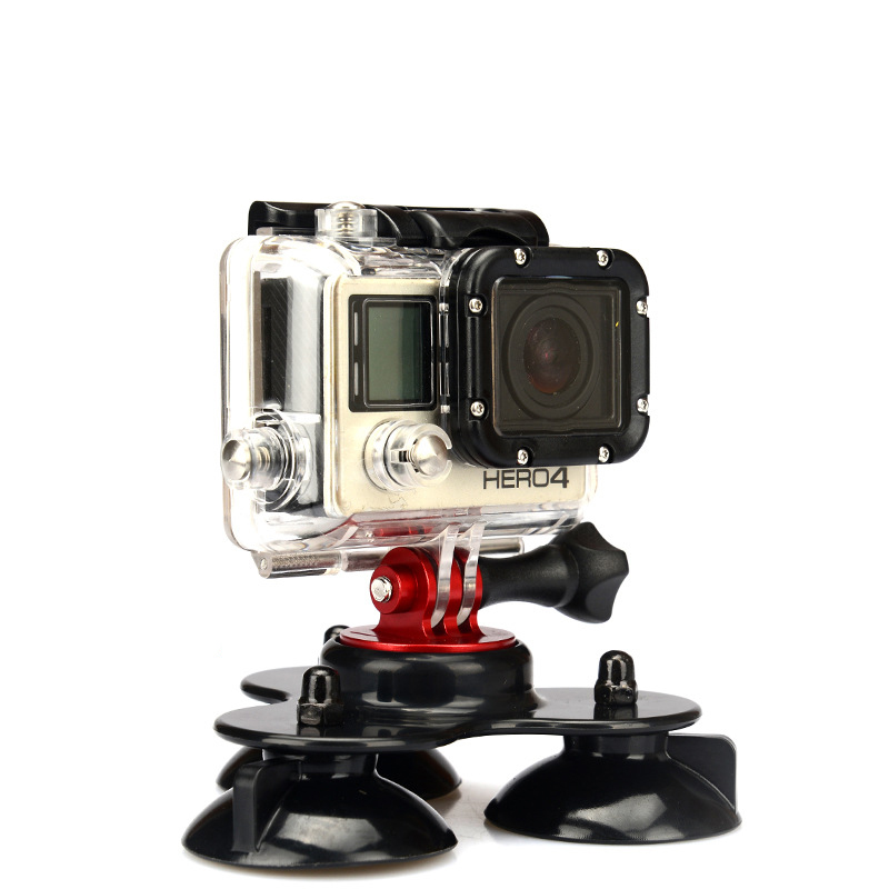 Low Angle Removable Suction Cup Tripod Mount 3 Suckers Fixation for Surfboard Car For Gopro Hero Camera DV FS