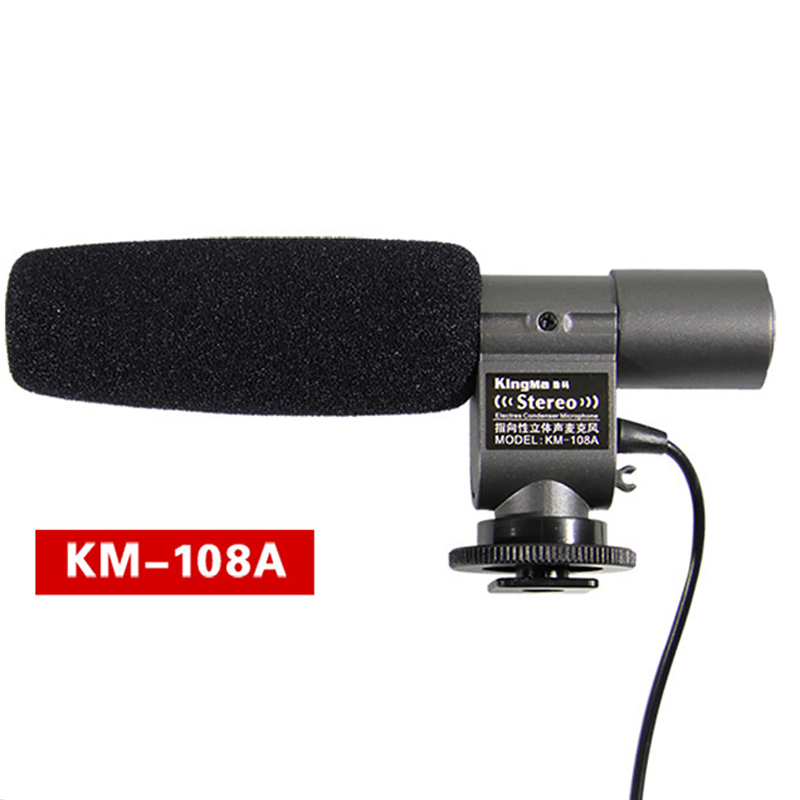 KMIC108A DV Video Stereo Wired Microphone For Canon 5D2 5D3 D600 D800 For Nikon