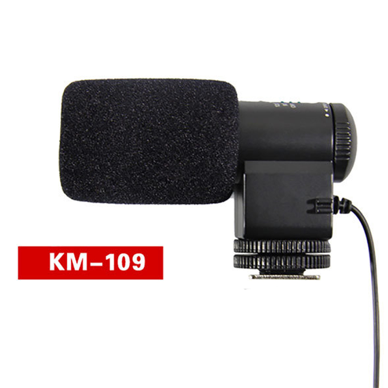 KMIC109 DV Video Stereo Microphone For Canon 5D2 7D 60D For Nikon