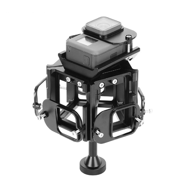 360 720 Degree Panorama Shooting Bracket VR Spherical Video Pan-Shot Panoramic Support Available for 6 GoPro Hero 5